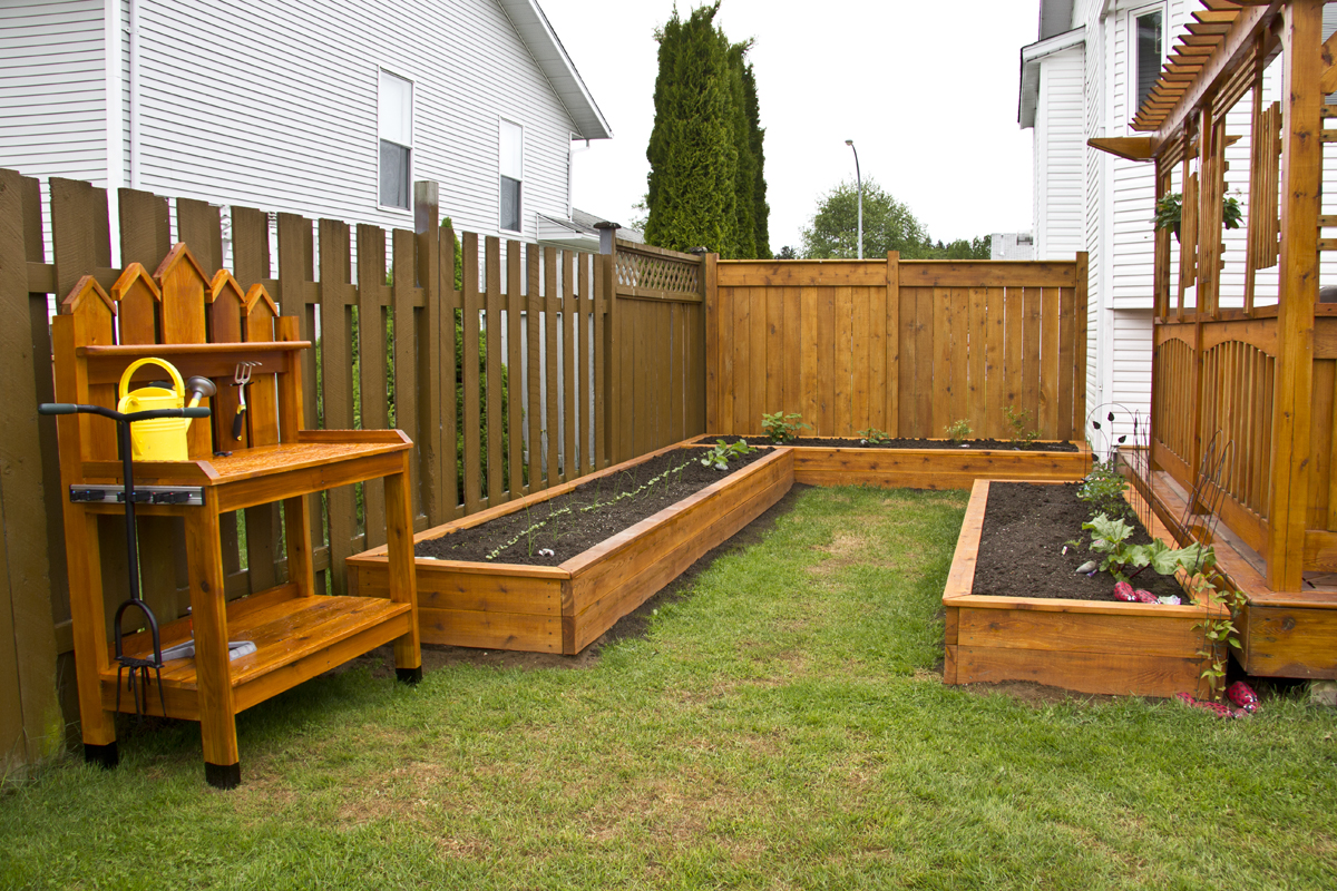 Raised Beds/ Potting Bench